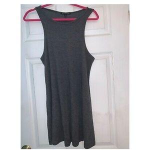 Brandy Melville Grey Ribbed Tank Dress, One Size